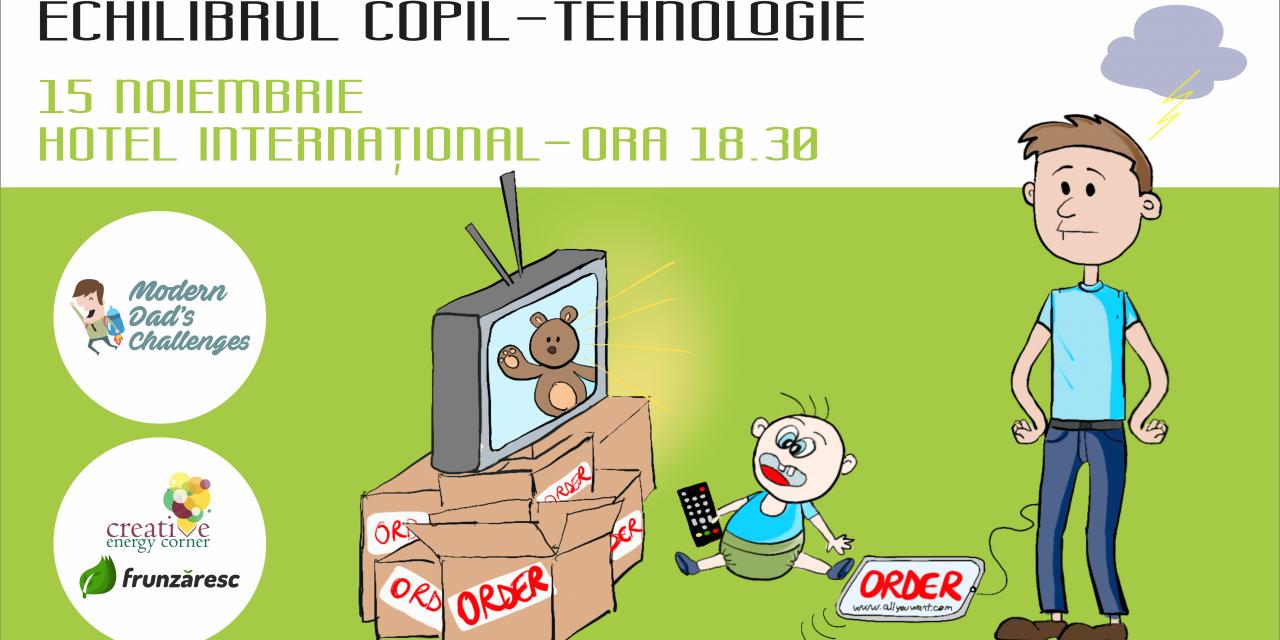 Cum păstrăm echilibrul între copii și tehnologie? Aflăm la editia a 5-a Modern Dad's Challenges